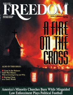 A fire on the Cross.