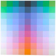 Robert Swain, Untitled, 9x9 13HH Red, 2015, Acrylic on birch panel, 9 x 9 feet, #RS07