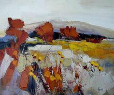 Hervé LENOUVEL - www.art-et-avenir.fr Seascape Art, Abstract Landscape Painting, Abstract Nature, Abstract Oil, Landscape Art, Landscape Paintings, Colorful Paintings, Contemporary Paintings, Cityscape Drawing