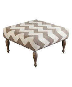 Look at this Gray & White Chevron Ottoman on #zulily today!
