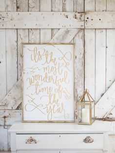 it's the most wonderful time of the year by Aedriel Moxley & TheHouseofBelonging GOLD It is the Most Wonderfu Time of Year sign!