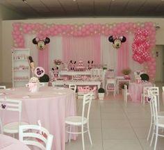 Bella Festa Decorações Itapema SC: Decoração da Minnie rosa By Faz de Conta Decorações