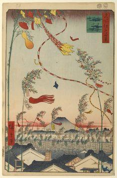 Hiroshige - One Hundred Famous Views of Edo - 73. Tanabata Matsuri