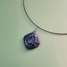 Wire wrapped stone pendant mod jewelry designs abstract