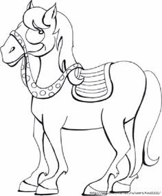 Horse Coloring Pages 01 578x700 148Kb