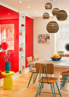 Dining Room by DesignNehez with Yellow Martini Table from west elm