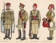 Los Regulares. Uniformes de 1945