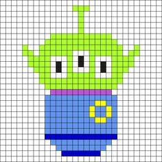 Alien - Toy Story Perler Bead Pattern