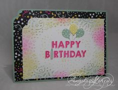 Angela Lorenz – Sneak Peak Occasions 2016 – Party Wishes EMBOSSING FOLDER AND STAMP SET