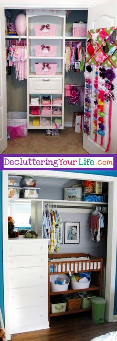 Baby Closet Organization Ideas - Nursery Closet Organization Ideas We Love! Nursery Closet Organization ideas – great DIY ideas for organizing the baby closet Nursery Closet Organization, Baby Closet Organization, Organization Ideas, Organizing Tips, Closet Storage, Baby Room Closet, Art Diy, Baby Suit, Organic Baby Clothes