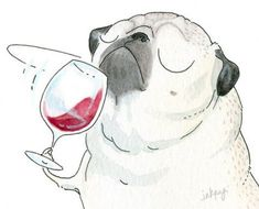 If you are searching for a secret partner puppy, some sort of pug will be Cute Puppies, Cute Dogs, Animals And Pets, Cute Animals, Pug Illustration, Pug Cartoon, Pug Art, Pug Love, Animal Tattoos