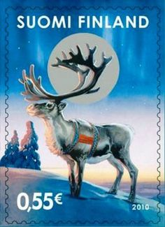 Christmas postage stamp from Finland