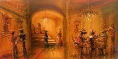 """Jazzamoart """"Bohemia Rembrandt"""", 2011 óleo sobre tela 75 x 144 cm."""