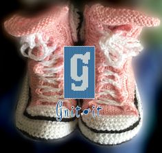 Gnit-It Pink Sneaker Slippers Pink Sneakers, Knits, Slippers, Knitting, Shoes, Fashion, Moda, Sneakers, Shoe
