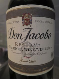 Wine Review: Don Jacobo Reserva 2004 (Spain)