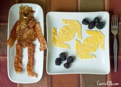 Star Wars Breakfast with Chewbacca hashbrowns are so cute!!