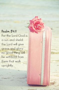 Psalm 84:11 For the Lord God is a sun and shield: the Lord will give grace and glory: no good thing will he withhold from them that walk uprightly #bibleverses