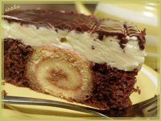 Nejprve upečeme roládky (plech 38x34cm): Bílky vyšleháme se špetkou soli a cukrem do tuhého směhu, všleháme žloutky a vmícháme mouku. Na plech s... Nutella, Tiramisu, Cheesecake, Pudding, Treats, Chocolate, Cooking, Ethnic Recipes, Sweet