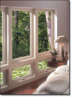 Great natural light with casement windows for bedroom!