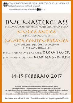 Masterclass di Dora Bruck e di Marina Minkin