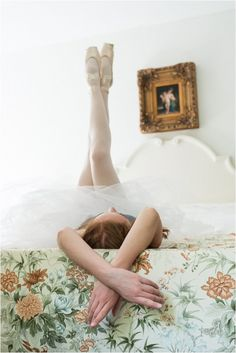 ballet boudoir session | Image by Widmer Photography