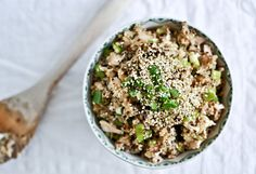Toasted Sesame Quinoa with Chicken