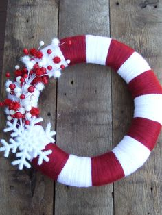 15 Christmas Candy Cane wreath with by katiejocollections on Etsy