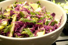 Shaved Red Cabbage and Apple Salad - Powered by The Health Emporium