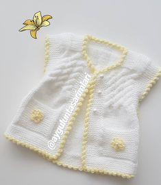 einen-schonen-tag-noch-hallo-unsere-neugeborene-weste-liebe-mariana-vill/ - The world's most private search engine Baby Cardigan, Knit Baby Dress, Baby Vest, Baby Knitting Patterns, Baby Sweater Patterns, Girls Sweaters, Baby Sweaters, Baby Pullover Muster, Funny Baby Clothes