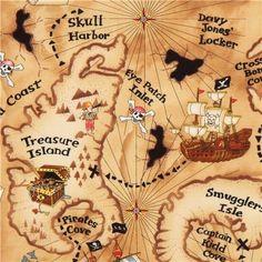light brown pirate treasure map fabric by Timeless Treasures (per 0.5m multiple) Kawaii http://www.amazon.co.uk/dp/B00AYGV56S/ref=cm_sw_r_pi_dp_HKj7vb0MNZ6K8