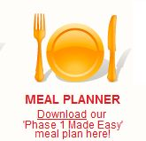 Download the Atkins 'Phase 1 Made Easy' meal plan here.