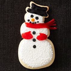 Celebrate the holiday season with these jolly snowman Christmas cookies. From Christmas sugar cookie cutouts to snowman truffles, our frosty friends make the perfect food gift, cookie-exchange offering, or simple holiday treat.