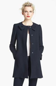 RED Valentino Bow Detail Coat | Nordstrom