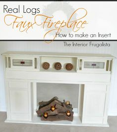Love what she made this out of! via @ TheInteriorFrugalista #diydecor #fauxfireplace