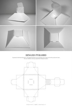 Hinged Pyramid Box – structural packaging design dielines
