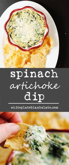 Cheesy, creamy, spinach artichoke dip is perfect for your next party or tailgating event. Make it ahead and freeze it for an easy appetizer.