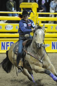 Lisa Lockhart at the National Finals Rodeo in Vegas 2012
