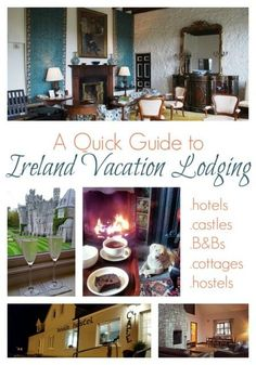 Accommodations in Ireland: a Quick Guide to Ireland Vacation Lodging - Tips for finding your best Ireland vacation lodging. Ireland travel tips Ireland Vacation, Ireland Travel, Vacation Destinations, Dream Vacations, Vacation Spots, Vacation Ideas, Travel Advice, Travel Tips, Travel Hacks