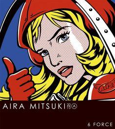 2010 Aira Mitsuki - 6 Force [D-topia Entertainment VUCD-60008 (JP)] original painting: Roy Lichtenstein - Girl with Hair Ribbon (1965) #albumcover