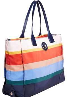 Tory Burch Ella Printed Packable Stripe Nylon Tote 36% off retail 62eda4e32abfc