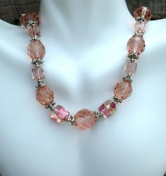 Pink Beaded Necklace  #Etsy #handmade #jewelry #promotingwomen