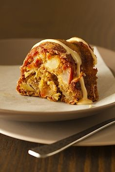 Lara Ferroni's Irish Apple Cake, with cinnamon, whole wheat, and Bailey's Irish Cream glaze