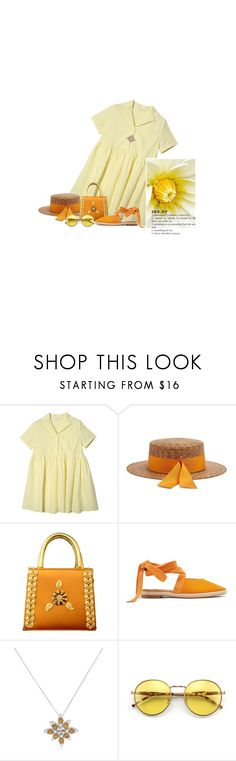 """""""Une Touche De Soleil / A Pop Of Sun"""" by halfmoonrun ❤ liked on Polyvore featuring Carlo Zini, J.W. Anderson, Pasquale Bruni, orangeoutfit and popsoforange"""