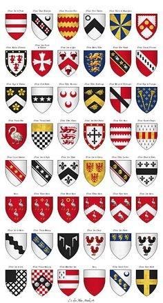 The Surrey Roll of Arms (aka Willement's Roll) - Shields 554-601 - Category:Surrey Roll - Wikimedia Commons