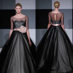 Love this black wedding dress.
