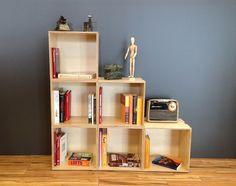 Plywood Shelves, Box, Bookcase, Furniture, Home Decor, Form Design, Modular Bookshelves, Homemade Home Decor, Home Furnishings