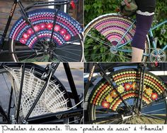 Crochet wheel covers, very cute. I wonder how practical?