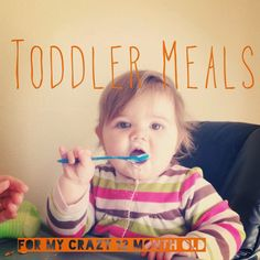I have had a perfect vision for my daughter's meals since the beginning.  When she was little I would breastfeed, when she was eating he...