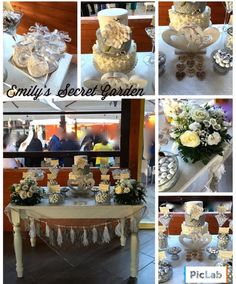 Silver sweet table