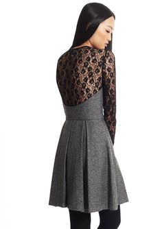 I love the back of this dress and the combination of fabrics!